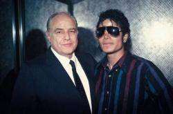 Марлон Брандо и Майкл Джексон