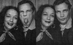 Марлон Брандо и его вторая жена Мовита Кастанеда, 1961 год