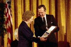 Маргарет Тэтчер и Джордж Буш-старший, 1991 год