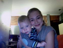 Оксана Акиньшина с сыном