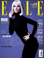 Роузи Хантингтон-Уайтли в фотосесии Мариано Виванцо для журнала Elle UK, октябрь 2013