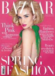Роузи Хантингтон-Уайтли для Harper's Bazaar UK, март 2014