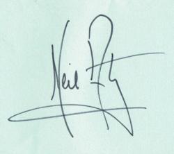 Автограф Нила Армстронга