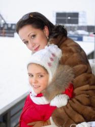Ольга Кабо с дочкой