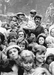 """Рон Ховард и Джордж Лукас на съемках фильма """"Виллоу"""", 1987 год"""