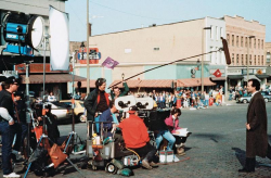 """Билл Мюррей на съемках фильма """"День сурка"""", 1992 год"""