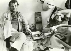 "Билл Мюррей и Дастин Хоффман на съемках фильма ""Тутси"", 1982 год"