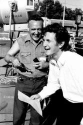 """Деннис Хоппер и Шон Пенн на съемках фильма """"Индеец-беглец"""", 1991 год"""