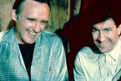 "Деннис Хоппер и Дэвид Линч на съемках фильма ""Синий бархат"", 1986 год"