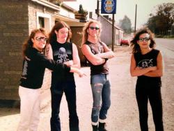 Metallica в составе Ларса Ульриха, Клиффа Бертона, Джеймса Хетфилда и Кирка Хэмметта в Ирландии, 1986 год