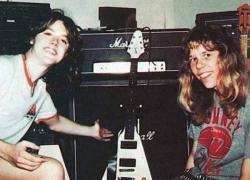 Ларс Ульрих и Джеймс Хетфилд из Metallica, 1981 год