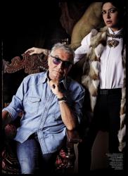 Роберто Кавалли и Ракель Кавалли для журнала HARPER'S BAZAAR RU, сентябрь 2013