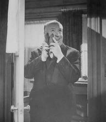 "Альфред Хичкок на съемках фильма ""Психо"", 1960 год"