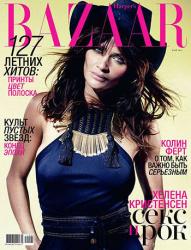 Хелена Кристенсен в российском Harper's Bazaar