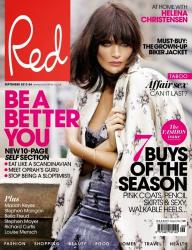 Хелена Кристенсен для Red UK, сентябрь 2013
