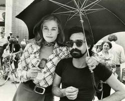 """Сибилл Шепард и Мартин Скорсезе на сьемках фильма """"Таксист"""", 1975 год"""
