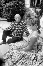 Пабло Пикассо и Бриджит Бардо, 1956 год