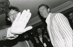 Мик Джаггер и Арнольд Шварценеггер, 1990 год