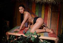 Восковая копия Ники Минаж в музее мадам Тюссо в Лас-Вегасе
