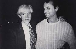 Энди Уорхол и Билл Мюррей, 1981 год