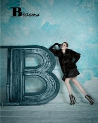 Коко Роша и Петра Немцова в лукбуке коллекции обуви BROWNS осень/зима 2013-2014