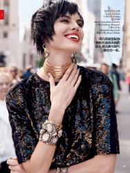 Марина Линчук для Vogue China, август 2013
