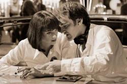 "Ума Турман и Квентин Тарантино на съемках фильма ""Криминальное чтиво"", 1993 год"