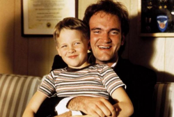 "Чандлер Линдауэр и Квентин Тарантино на съемках фильма ""Криминальное чтиво"", 1993 год"