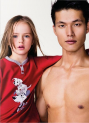 Кристина Пименова в рекламной кампании Benetton