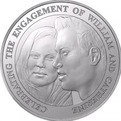 Монеты с принцем Уильямом и Кейт Миддлтон