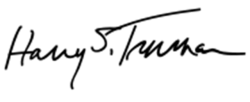 Автограф Гарри Трумэна