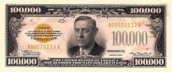 Вудро Вильсон на деньгах