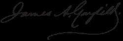 Автограф Джеймса Гарфилда