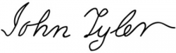 Автограф Джона Тайлера