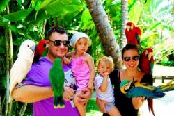 Сергей Жуков и его семья на Бали