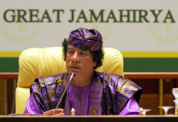 Яркие наряды Муамара Каддафи