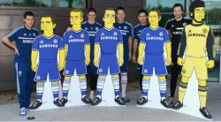 """Игроки футбольного клуба """"Челси"""" в образе Симпсонов"""