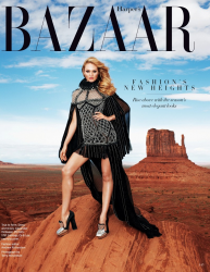 Кэндис Свейнпол для Harper's Bazaar USA, август 2013