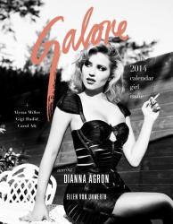 Диана Агрон в чувственной фотосессии для GALORE Magazine, декабрь 2013
