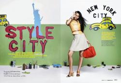 Шанель Иман для Cosmopolitan US, март 2014