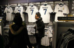 Продажи футболок Роналду побили рекорды Бекхэма и Зидана
