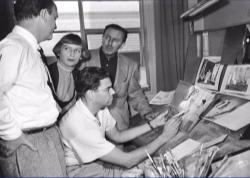 Мэри Блэр в студии Дисней