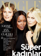 Наоми Кэмпбелл, Клаудиа Шиффер и Ева Герцигова для Vogue Turkey, ноябрь 2014