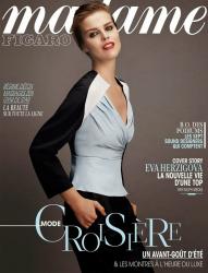Ева Герцигова для Madame Figaro, январь 2014