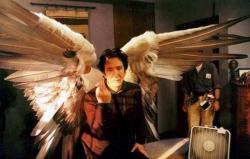 "Алан Рикман на съемках картины ""Догма"", 1998 год"