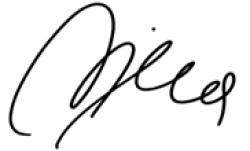 Автограф Нины Бадрич
