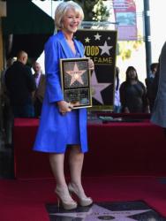 Звезда Хелен Миррен на Аллее славы в Голливуде