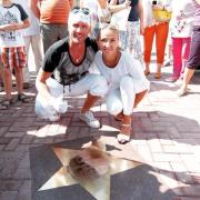 Именные звёзды Татьяны Навки и Романа Костомарова на Аллее Олимпийских чемпионов в Сочи