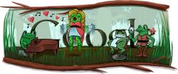 Джоаккино Антонио Россини на праздничном логотипе Google