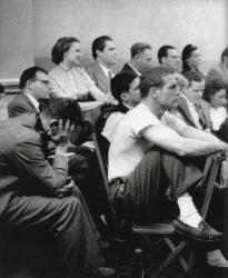 Пол Ньюман в Актерской студии в Нью-Йорке, 1955 год